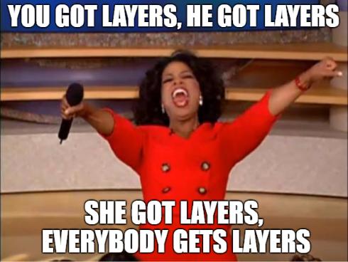 Afbeeldingsresultaat voor app layering meme